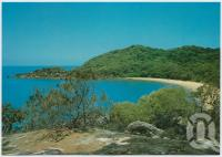 "<span class=""caption-caption"">Orchid Bay from lookout, Hinchinbrook Island</span>, c1970-2000. <br />Postcard, collection of <span class=""caption-contributor"">Murray Views Collection</span>."