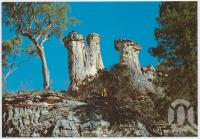 "<span class=""caption-caption"">""The Three Sisters"" Mt Moffatt National Park, Injune</span>, c1970-2000. <br />Postcard, collection of <span class=""caption-contributor"">Murray Views Collection</span>."