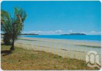 "<span class=""caption-caption"">Looking along the beach at Seaforth towards Redcliffe Island, you can walk to these islands at low tide to see shells and coral</span>, c1970-2000. <br />Postcard, collection of <span class=""caption-contributor"">Murray Views Collection</span>."