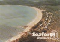 "<span class=""caption-caption"">Aerial view of Seaforth Beach and township, 44 km north of Mackay, a popular holiday and camping area</span>, c1970-2000. <br />Postcard, collection of <span class=""caption-contributor"">Murray Views Collection</span>."