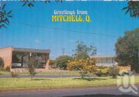 "<span class=""caption-caption"">Civic Centre, Mitchell</span>, c1970-2000. <br />Postcard, collection of <span class=""caption-contributor"">Murray Views Collection</span>."