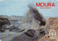 "<span class=""caption-caption"">Blasting the Overburden in the Open Cut Coal Mine, Moura</span>, c1970-2000. <br />Postcard, collection of <span class=""caption-contributor"">Murray Views Collection</span>."