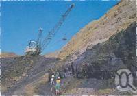 """<span class=""""caption-caption"""">The open cut coal mine, showing the giant Dragline removing the overburden, Moranbah</span>, c1970-2000. <br />Postcard, collection of <span class=""""caption-contributor"""">Murray Views Collection</span>."""