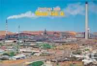"<span class=""caption-caption"">General view of the city and mine workings featuring the giant chimney stack, Mount Isa</span>, c1970-2000. <br />Postcard, collection of <span class=""caption-contributor"">Murray Views Collection</span>."