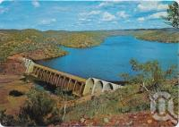 "<span class=""caption-caption"">The Julius Dam on the Leichhardt River supplies water to the city of Mt Isa</span>, c1970-2000. <br />Postcard, collection of <span class=""caption-contributor"">Murray Views Collection</span>."