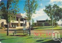"<span class=""caption-caption"">The Civic Centre, built at a cost of $2.5 million, is the hub of arts and entertainment in the northwest of Queensland, Mt Isa</span>, c1970-2000. <br />Postcard, collection of <span class=""caption-contributor"">Murray Views Collection</span>."