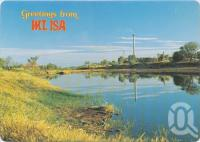 "<span class=""caption-caption"">The picturesque Leichhardt River, looking toward Mt Isa Mines</span>, c1970-2000. <br />Postcard, collection of <span class=""caption-contributor"">Murray Views Collection</span>."