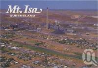 "<span class=""caption-caption"">erial view, with Mt Isa Mines in the background</span>, c1970-2000. <br />Postcard, collection of <span class=""caption-contributor"">Murray Views Collection</span>."