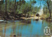 "<span class=""caption-caption"">The O'Shannassy River Crossing near Riversleigh, Gulf of Carpentaria</span>, c1970-2000. <br />Postcard, collection of <span class=""caption-contributor"">Murray Views Collection</span>."