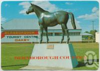 "<span class=""caption-caption"">Oakey, Bernborough Country, ""Bernborough"" Queensland's greatest racehorse</span>, c1970-2000. <br />Postcard, collection of <span class=""caption-contributor"">Murray Views Collection</span>."