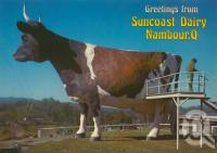 "<span class=""caption-caption"">The Big Ayrshire Cow, Nambour</span>, c1980. <br />Postcard by <span class=""caption-publisher"">Murray Views Pty Ltd</span>, collection of <span class=""caption-contributor"">Centre for the Government of Queensland</span>."