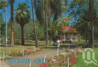 """<span class=""""caption-caption"""">Memorial Park, Gympie</span>, c1980. <br />Postcard by <span class=""""caption-publisher"""">Murray Views Pty Ltd</span>, collection of <span class=""""caption-contributor"""">Centre for the Government of Queensland</span>."""