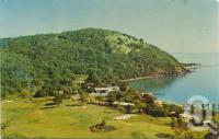 """<span class=""""caption-caption"""">South Molle Island, overlooking the golf course</span>, 1968. <br />Postcard by <span class=""""caption-publisher"""">Murray Views Pty Ltd</span>, collection of <span class=""""caption-contributor"""">Centre for the Government of Queensland</span>."""