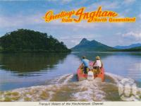 "<span class=""caption-caption"">Tranquil waters of the Hinchinbrook Channel</span>, c1966. <br />Postcard folder by <span class=""caption-publisher"">GK Bolton</span>, collection of <span class=""caption-contributor"">Centre for the Government of Queensland MS</span>."