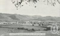 """<span class=""""caption-caption"""">View from Halloran's Hill, Atherton</span>, c1945. <br />Postcard folder by <span class=""""caption-publisher"""">Murray Views Pty Ltd</span>, collection of <span class=""""caption-contributor"""">Centre for the Government of Queensland</span>."""