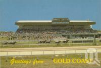 "<span class=""caption-caption"">Southport Racecourse, Bundall</span>, c1975. <br />Postcard by <span class=""caption-publisher"">Sydney G Hughes Pty Ltd</span>, collection of <span class=""caption-contributor"">Centre for the Government of Queensland</span>."