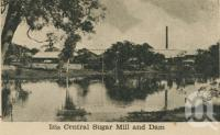 "<span class=""caption-caption"">Isis Central Sugar Mill and dam</span>, c1945. <br />Postcard, collection of <span class=""caption-contributor"">Centre for the Government of Queensland</span>."