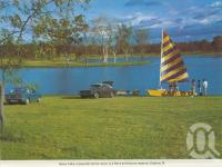 "<span class=""caption-caption"">Apex Lake, Gatton</span>, c1980. <br />Postcard folder by <span class=""caption-publisher"">Murray Views Pty Ltd</span>, collection of <span class=""caption-contributor"">Centre for the Government of Queensland</span>."