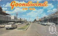 "<span class=""caption-caption"">Goondiwindi SW</span>, 1966. <br />Postcard folder by <span class=""caption-publisher"">Murray Views Pty Ltd</span>, collection of <span class=""caption-contributor"">Centre for the Government of Queensland</span>."