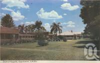 "<span class=""caption-caption"">District Hospital, Goondiwindi</span>, 1966. <br />Postcard folder by <span class=""caption-publisher"">Murray Views Pty Ltd</span>, collection of <span class=""caption-contributor"">Centre for the Government of Queensland</span>."