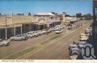 "<span class=""caption-caption"">Marshall Street, Goondiwindi</span>, 1966. <br />Postcard folder by <span class=""caption-publisher"">Murray Views Pty Ltd</span>, collection of <span class=""caption-contributor"">Centre for the Government of Queensland</span>."