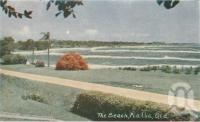 """<span class=""""caption-caption"""">The beach, Pialba</span>, 1963. <br />Postcard folder by <span class=""""caption-publisher"""">Viewpoint Productions</span>, collection of <span class=""""caption-contributor"""">Centre for the Government of Queensland</span>."""