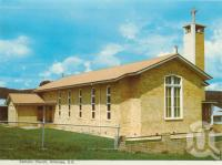 "<span class=""caption-caption"">Catholic Church, Killarney</span>, 1984. <br />Postcard folder by <span class=""caption-publisher"">Murray Views Pty Ltd</span>, collection of <span class=""caption-contributor"">Centre for the Government of Queensland</span>."
