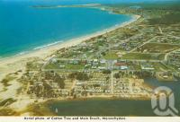 "<span class=""caption-caption"">Aerial photo of Cotton Tree and main beach Maroochydore</span>, c1970. <br />Postcard folder by <span class=""caption-publisher"">Bernard Kuskoff</span>, collection of <span class=""caption-contributor"">Centre for the Government of Queensland</span>."
