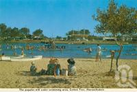 "<span class=""caption-caption"">The popular still water swimming area, Cotton Tree, Maroochydore</span>, c1970. <br />Postcard folder by <span class=""caption-publisher"">Bernard Kuskoff</span>, collection of <span class=""caption-contributor"">Centre for the Government of Queensland</span>."