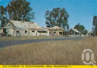 """<span class=""""caption-caption"""">Old township of Kooroongarra, near Millmerran</span>, 1979. <br />Postcard by <span class=""""caption-publisher"""">ICP</span>, collection of <span class=""""caption-contributor"""">Centre for the Government of Queensland</span>."""