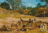 "<span class=""caption-caption"">Tourists fossicking in Retreat Creek, Sapphire Town</span>, 1978. <br />Postcard by <span class=""caption-publisher"">Murray Views Pty Ltd</span>, collection of <span class=""caption-contributor"">Centre for the Government of Queensland</span>."