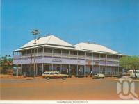 "<span class=""caption-caption"">Hotel National, Normanton</span>, c1983. <br />Postcard folder by <span class=""caption-publisher"">Murray Views Pty Ltd</span>, collection of <span class=""caption-contributor"">Centre for the Government of Queensland</span>."