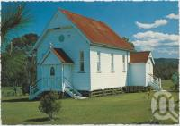 "<span class=""caption-caption"">Country Church, Samford Village</span>, c1970-2000. <br />Postcard, collection of <span class=""caption-contributor"">Murray Views Collection</span>."