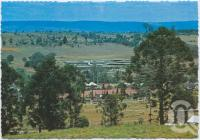 "<span class=""caption-caption"">Overlooking Yarraman with ""Parkview Hostel"" in background</span>, c1970-2000. <br />Postcard, collection of <span class=""caption-contributor"">Murray Views Collection</span>."