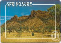 "<span class=""caption-caption"">Virgin Rock, carved out of the Basalt Range, Springsure</span>, c1970-2000. <br />Postcard, collection of <span class=""caption-contributor"">Murray Views Collection</span>."