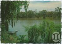 "<span class=""caption-caption"">The Balonne River, a popular fishing and recreation area, St George</span>, c1970-2000. <br />Postcard, collection of <span class=""caption-contributor"">Murray Views Collection</span>."
