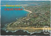 "<span class=""caption-caption"">Aerial view from Wickham Point looking towards Pumicestone Passage and Golden Beach, Caloundra</span>, c1970-2000. <br />Postcard, collection of <span class=""caption-contributor"">Murray Views Collection</span>."