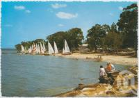 "<span class=""caption-caption"">Sailing on Lake Cootharaba, Boreen Point</span>, c1970-2000. <br />Postcard, collection of <span class=""caption-contributor"">Murray Views Collection</span>."