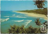 "<span class=""caption-caption"">Surfing beach, looking south to Mt Coolum, Sunshine Beach</span>, c1970-2000. <br />Postcard, collection of <span class=""caption-contributor"">Murray Views Collection</span>."