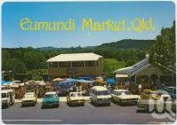 "<span class=""caption-caption"">The Eumundi Market started in 1979 is situated in the middle of the Historic town of Eumundi</span>, c1970-2000. <br />Postcard, collection of <span class=""caption-contributor"">Murray Views Collection</span>."