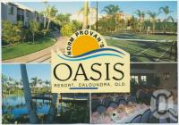 """<span class=""""caption-caption"""">Norm Provan's Oasis Resort on Golden Beach - The Affordable Luxury Resort, Landsborough Parade, Caloundra</span>, c1970-2000. <br />Postcard, collection of <span class=""""caption-contributor"""">Murray Views Collection</span>."""