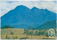 """<span class=""""caption-caption"""">Mt Barney, south of Rathdowney</span>, c1970-2000. <br />Postcard, collection of <span class=""""caption-contributor"""">Murray Views Collection</span>."""