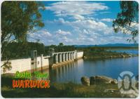 "<span class=""caption-caption"">Leslie Dam - A popular Sailing and Skiing area situated only 11 kms west of Warwick</span>, c1970-2000. <br />Postcard, collection of <span class=""caption-contributor"">Murray Views Collection</span>."