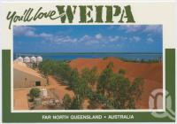"<span class=""caption-caption"">Bauxite Stockpile, Weipa</span>, c1970-2000. <br />Postcard, collection of <span class=""caption-contributor"">Murray Views Collection</span>."