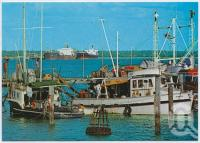 "<span class=""caption-caption"">Fishing Boats, Weipa</span>, c1970-2000. <br />Postcard, collection of <span class=""caption-contributor"">Murray Views Collection</span>."