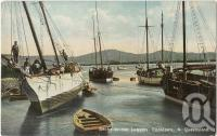 "<span class=""caption-caption"">Beche-de-mer Luggers, Cooktown</span>, c1910. <br />Postcard, collection of <span class=""caption-contributor"">Fryer Library, UQ</span>."