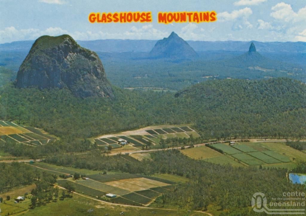 Glass House Mountains Mt Tibrogargan Mt Beewah and Mt Coonowrin