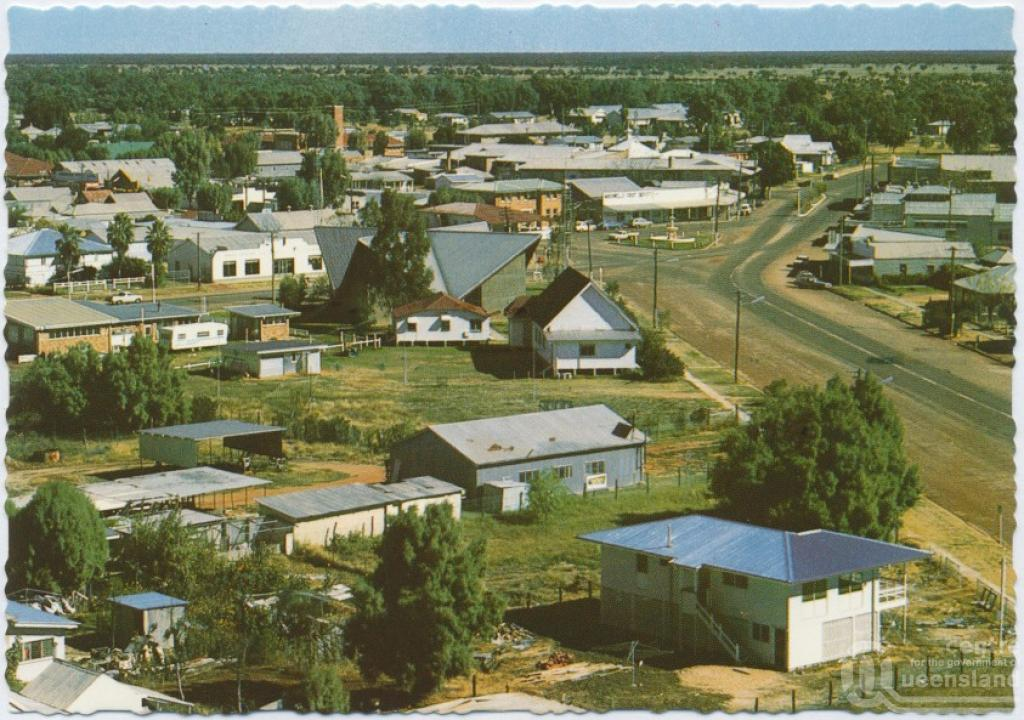 Cunnamulla Australia  city photo : View of town from water tower, Cunnamulla , c1970 2000. Postcard ...